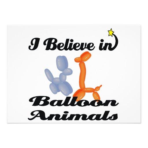 creo en animales del globo comunicado personalizado