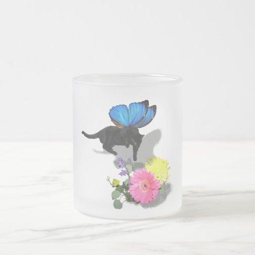 Creo en animales del insecto de las hadas del taza de cristal