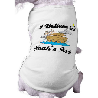 creo en arca de los noahs playera sin mangas para perro