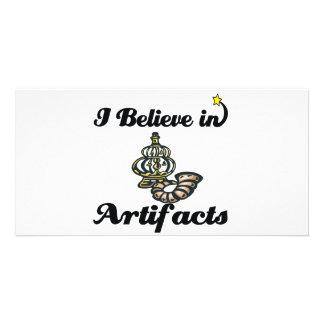 creo en artefactos tarjeta con foto personalizada