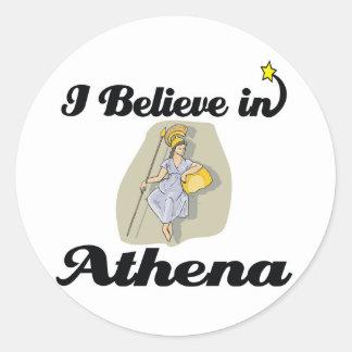 creo en Athena Etiquetas Redondas