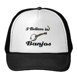 creo en banjos gorras de camionero