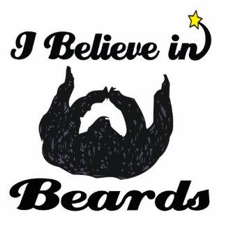 creo en barbas escultura fotográfica