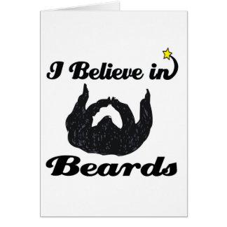 creo en barbas tarjetón