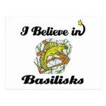 creo en basiliscos tarjetas postales