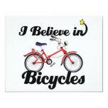 creo en bicicletas invitación 10,8 x 13,9 cm