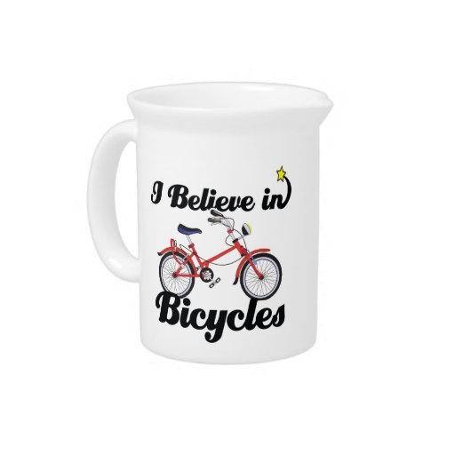 creo en bicicletas jarra de beber