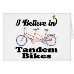 creo en bicis en tándem felicitacion