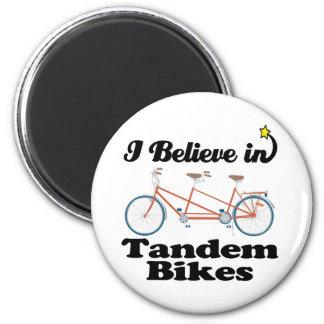 creo en bicis en tándem imán redondo 5 cm