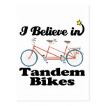 creo en bicis en tándem postal