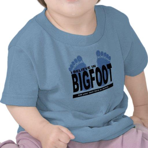 Creo en Bigfoot Camiseta