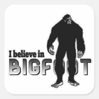 Creo en BIGFOOT Colcomanias Cuadradas