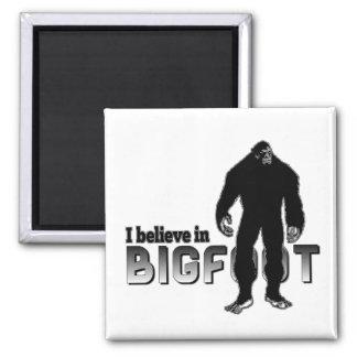 Creo en BIGFOOT Imán Cuadrado