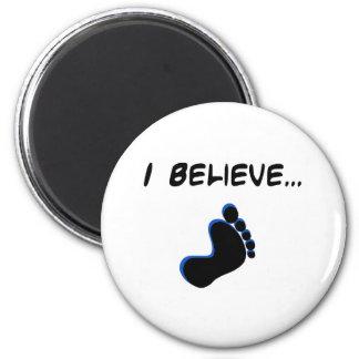 Creo en Bigfoot Imán Redondo 5 Cm