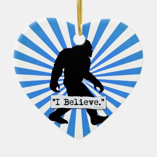 Creo en Bigfoot Ornamento Para Arbol De Navidad