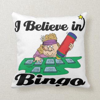 creo en bingo cojin