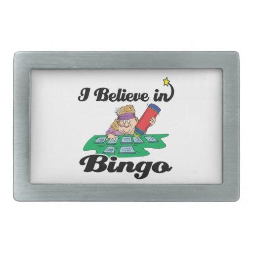 creo en bingo hebilla cinturón rectangular