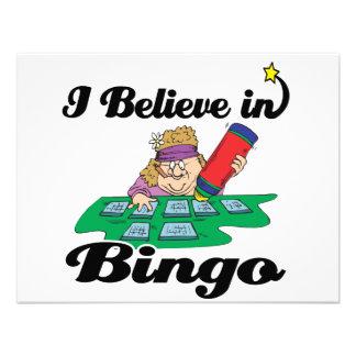 creo en bingo invitacion personalizada