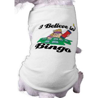 creo en bingo playera sin mangas para perro