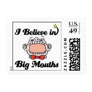 creo en bocas grandes sello