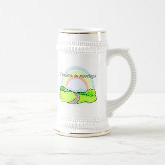 Creo en boda jarra de cerveza