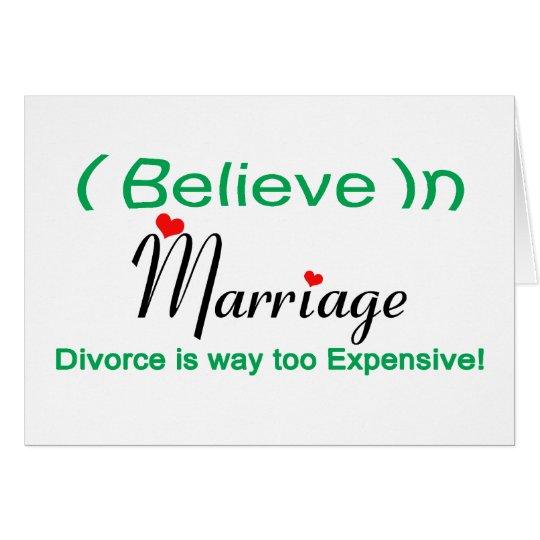 Creo en boda tarjeta de felicitación