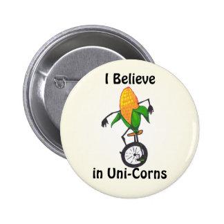 Creo en botón de los unicornios pin redondo de 2 pulgadas