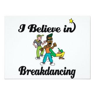 creo en breakdancing invitación