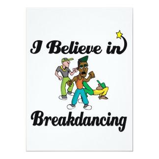 creo en breakdancing invitación 16,5 x 22,2 cm