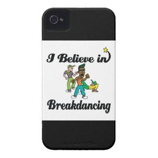 creo en breakdancing iPhone 4 Case-Mate cárcasas