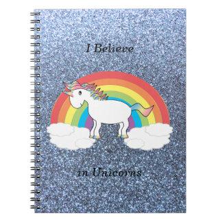 Creo en brillo azul en colores pastel de los unico note book
