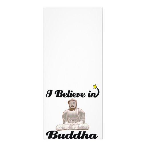 creo en Buda Plantilla De Lona