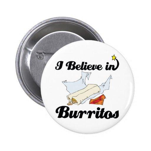 creo en burritos pins
