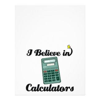 creo en calculadoras tarjetas informativas