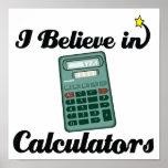 creo en calculadoras poster