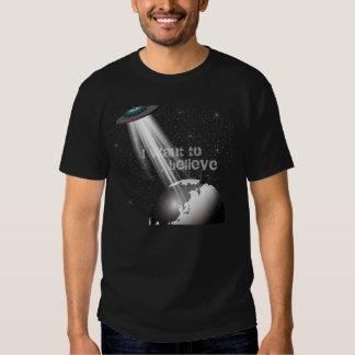 Creo en camiseta de los extranjeros playeras