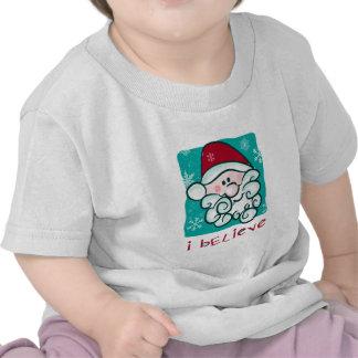 Creo en camiseta del navidad de Santa