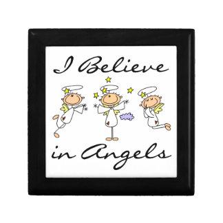 Creo en camisetas y regalos de los ángeles caja de joyas