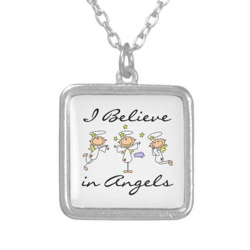 Creo en camisetas y regalos de los ángeles joyeria personalizada