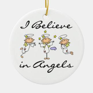 Creo en camisetas y regalos de los ángeles adorno para reyes