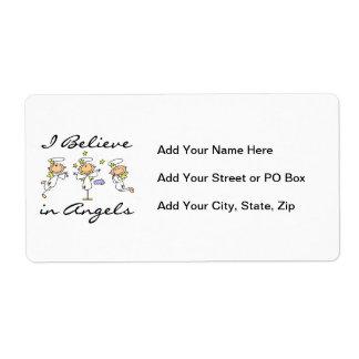 Creo en camisetas y regalos de los ángeles etiqueta de envío