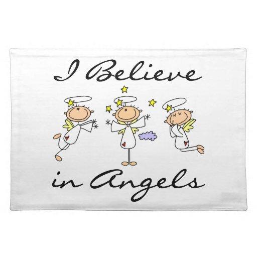 Creo en camisetas y regalos de los ángeles mantel