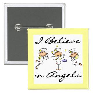 Creo en camisetas y regalos de los ángeles pins