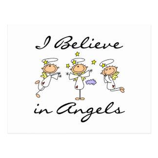 Creo en camisetas y regalos de los ángeles tarjeta postal