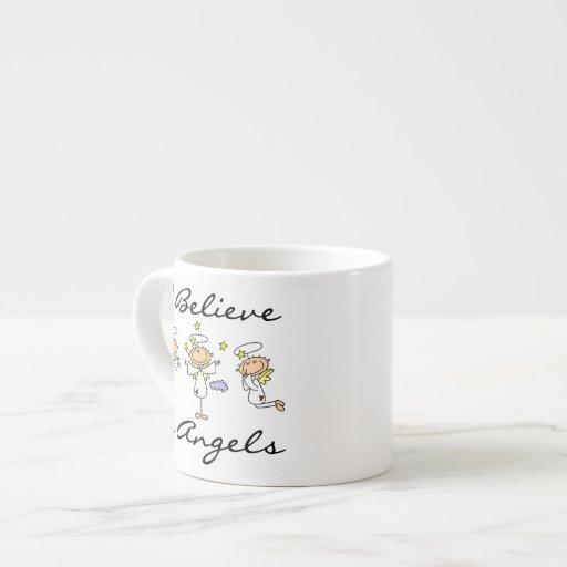 Creo en camisetas y regalos de los ángeles taza espresso