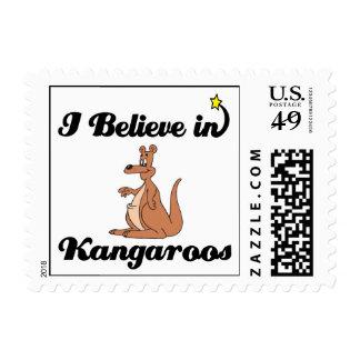 creo en canguros timbres postales