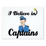 creo en capitanes invitación 10,8 x 13,9 cm