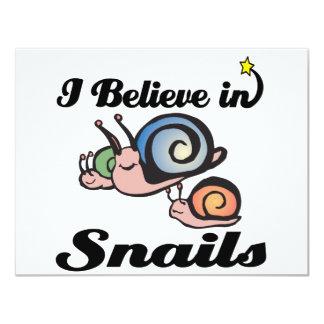 creo en caracoles invitación 10,8 x 13,9 cm