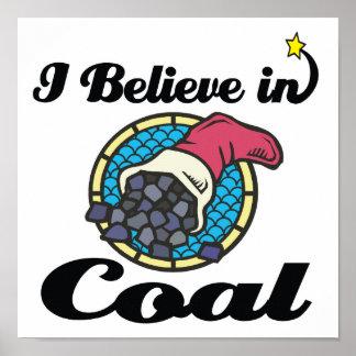 creo en carbón póster