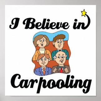 creo en carpooling póster